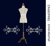 sartorial mannequin on a dark... | Shutterstock .eps vector #586608962