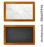 paper and chalkboard background ... | Shutterstock .eps vector #586609946