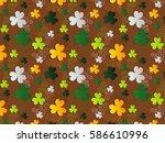 st. patrick's day green white... | Shutterstock .eps vector #586610996