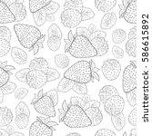 strawberry. background ... | Shutterstock . vector #586615892