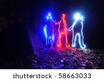 the light painting | Shutterstock . vector #58663033