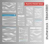 reclosable resealable zipper... | Shutterstock .eps vector #586643885