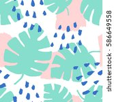 seamless repeating pattern with ... | Shutterstock .eps vector #586649558