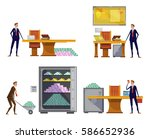 set of compositions with... | Shutterstock .eps vector #586652936