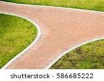 Intersecting Brick Sidewalks...