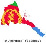 flag map of eritrea | Shutterstock .eps vector #586688816