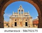 the main church of arkadi... | Shutterstock . vector #586702175