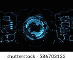 hud interface concept... | Shutterstock . vector #586703132