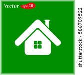 house web icon. flat vector...