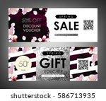 gift certificate  voucher ... | Shutterstock .eps vector #586713935