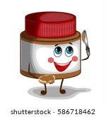 peanut butter character | Shutterstock .eps vector #586718462