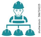 builder management glyph icon.... | Shutterstock . vector #586724225