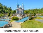 beautiful mini golf course at... | Shutterstock . vector #586731335