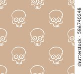 seamless pattern with hand... | Shutterstock .eps vector #586740248