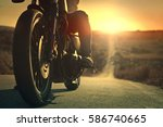 biker on the road | Shutterstock . vector #586740665