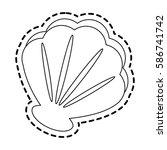 sea shell icon image    Shutterstock .eps vector #586741742