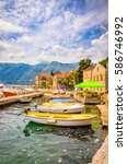 beautiful mediterranean... | Shutterstock . vector #586746992