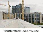 oslo  norway   august 28  view... | Shutterstock . vector #586747322