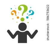 person silhouette with question ... | Shutterstock .eps vector #586753622