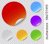 vector round stickers set | Shutterstock .eps vector #586757495