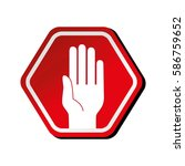 traffic signal isolated icon | Shutterstock .eps vector #586759652