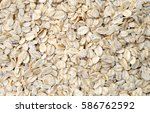 oat flakes as background | Shutterstock . vector #586762592