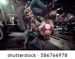 two funny thieves in a dark...   Shutterstock . vector #586766978