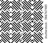 vector seamless pattern.... | Shutterstock .eps vector #586767485