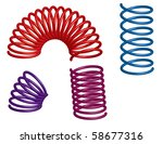 colorful 3d springs | Shutterstock .eps vector #58677316