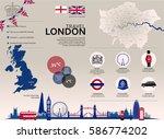 london travel infographic. set... | Shutterstock .eps vector #586774202