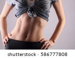 sport  fitness  dieting results ... | Shutterstock . vector #586777808