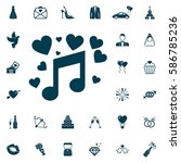 music notes and heart  melody... | Shutterstock .eps vector #586785236