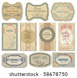 vintage labels set  vector | Shutterstock .eps vector #58678750