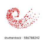 abstract decoration of red... | Shutterstock .eps vector #586788242