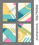 set of trendy geometric element ... | Shutterstock .eps vector #586790006
