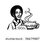 fresh baked pie 2   retro clip... | Shutterstock .eps vector #58679887