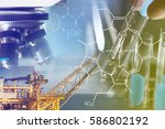 petrochemical industry concept  ... | Shutterstock . vector #586802192