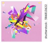 vector abstract background... | Shutterstock .eps vector #586813622