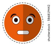 cartoon surprised emoticon funny | Shutterstock .eps vector #586819442
