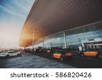 cabstand in front of entrance... | Shutterstock . vector #586820426