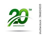 20 years anniversary.... | Shutterstock .eps vector #586824035
