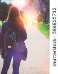 natural background walking...   Shutterstock . vector #586825712
