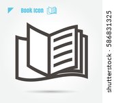icon book vector illustration... | Shutterstock .eps vector #586831325