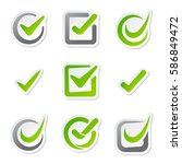 check box icons of vote mark...