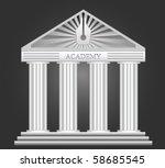 vector academy building | Shutterstock .eps vector #58685545