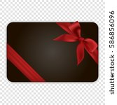 blank black gift card template... | Shutterstock .eps vector #586856096