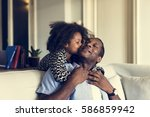 african descent family house... | Shutterstock . vector #586859942