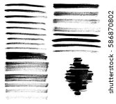 set of different grunge brush... | Shutterstock . vector #586870802