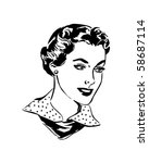 lovely woman   retro clip art | Shutterstock .eps vector #58687114