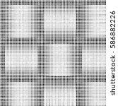 grunge halftone dots texture... | Shutterstock .eps vector #586882226